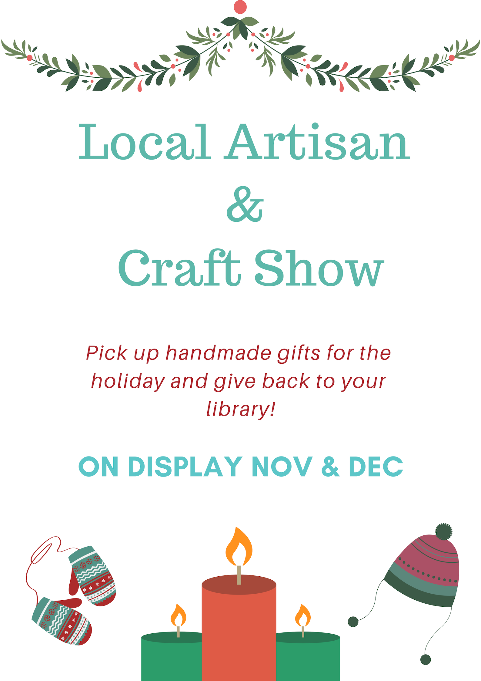 Dimmick Memorial Library Local Artisan Craft Sale